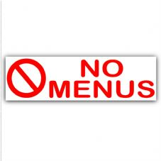 1 x No Menus Warning Sticker Sign Letterbox Notice-Keep Away Unwanted Pizza,Kebab,Chips,Chicken Leaflets,Flyers,150mmx50mm